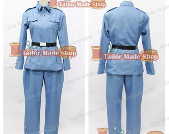 APH Axis Powers hetalia Finland cosplay costume Blue