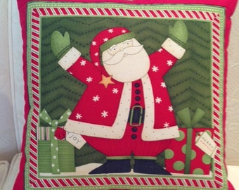 Holiday Red Santa Pillow Cover