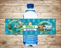 Octonauts water Bottle Labels - Personalized - Printable - PDF