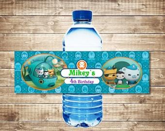 Octonauts Bottle Labels, Personalized, PDF