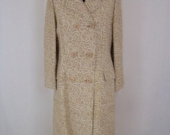 1960's - Long Length Spring/Summer Coat - By Bickler England - Approx UK 14