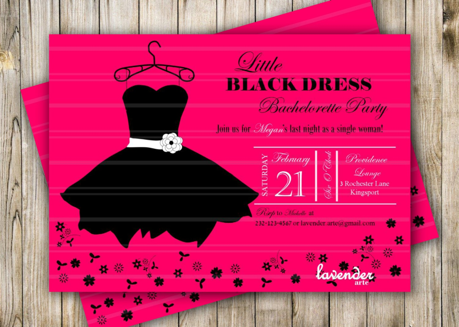 Little Black Dress Bachelorette Party Invites send ecards to email – Little Black Dress Bachelorette Party Invitations
