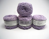 Set of 4 balls - 100 % cotton yarn, hand dyed/balled, 4 x 50g double knitting balls, - Lilac