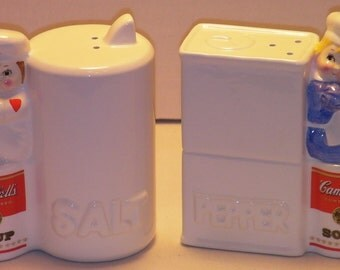 Campbells Kids Salt and Pepper Shakers