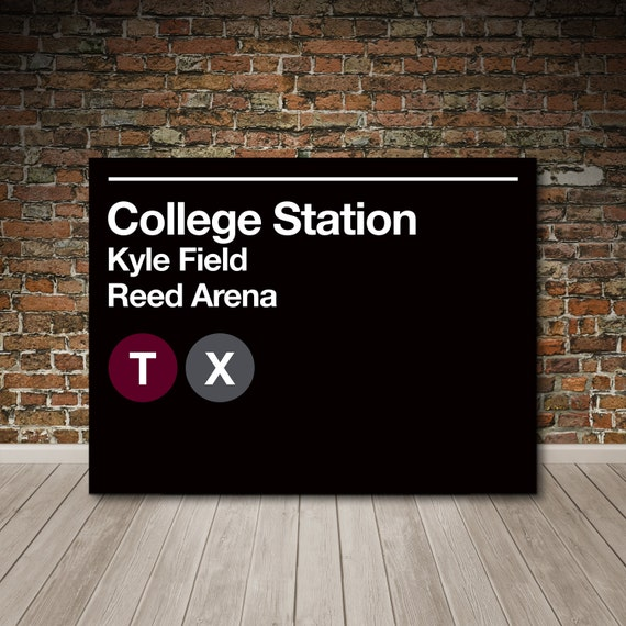 College Subway Canvas Wall Art College Station Texas Subway