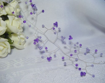Wedding bridal hairvine handmade range of colours