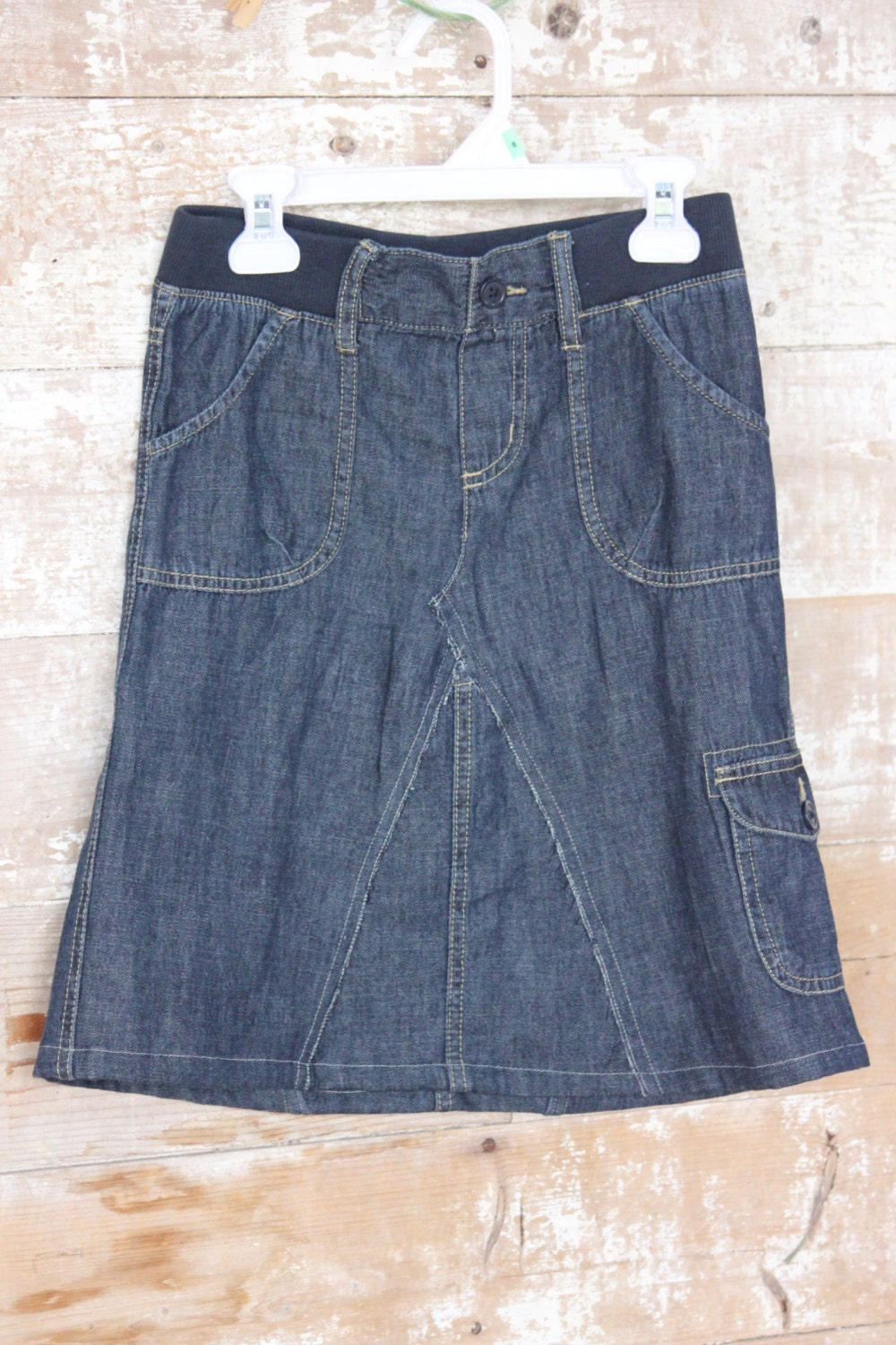 s size 8 denim cargo skirt