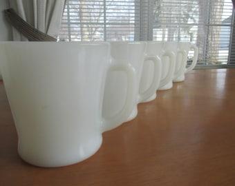 Fire King D-Handle Mug   Set of 5
