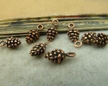 50PCS Antique copper pine cone charms pendant, 6x13mm, Jewelry Accessories- J34978