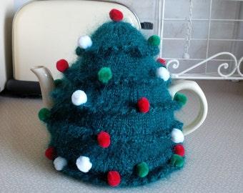 Mohair Christmas Tree Tea Cosy