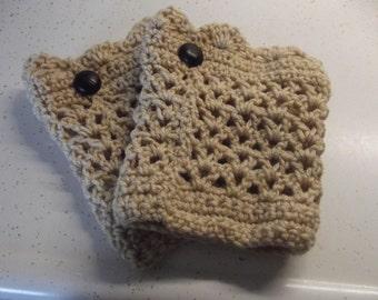 Handmade Crochet Boot Cuffs -/ crochet leg warmers / legwarmers for sale/ Choice of Colors