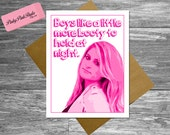 items similar to meghan trainor card, funny happy birthday card, Birthday card