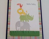 Baby Card - Congratulations on Baby - Safari Baby Card - Baby Boy - Gender Neutral Baby Card - Stampin Up Cards