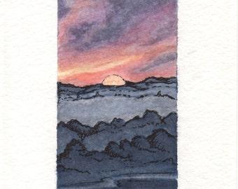 "The Seasons Collection: ""Misty Sunrise""."