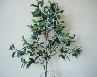 """30"""" Silk Ficus Stem  Artificial Greenery DIY Silk Floral Supplies Craft Supply Floral Arrangement Materials #259A"""