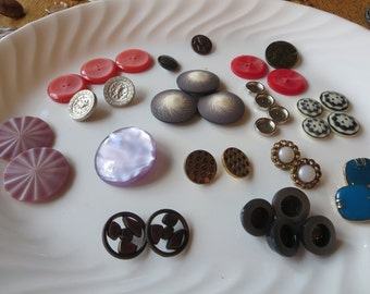 Great Jar of Buttons from England in Multiple Colors, Sizes and Shapes