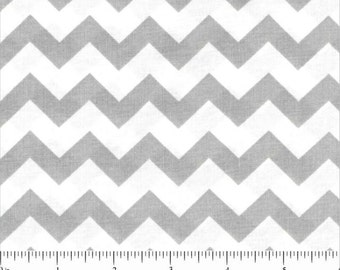 100% Cotton - Grey and White Chevron - Cotton Fabric - Quilting Cotton - Fabric by the Yard - Chevron Fabric - Choice Fabrics