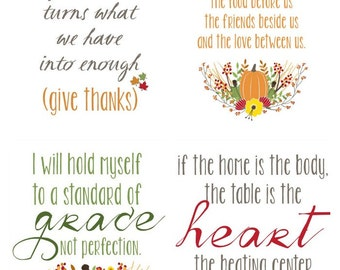 Thanksgiving Printable Art Decor Set