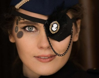 Black Steampunk Eyepatch