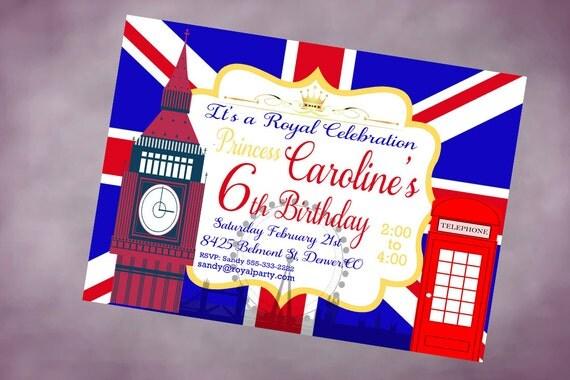 Anniversaire invitation imprimable angleterre personnalis - Image de londres a imprimer gratuit ...