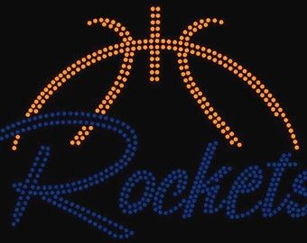 PERSONALIZE Basketball Custom Team Name Personalized Rhinestone iron on transfer