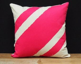Be Kind Cushion - Stripe Me Pink
