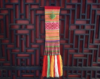 Hmong Hill Tribe Needlework Hanger