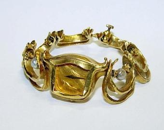 Rare 18kt Gold Fresh Water Pearl Salvador Dali Melting Clock Surrealist Watch 750 Kkb