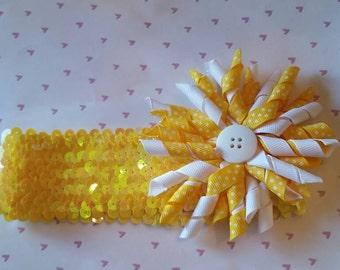 Yellow Sequined Headband