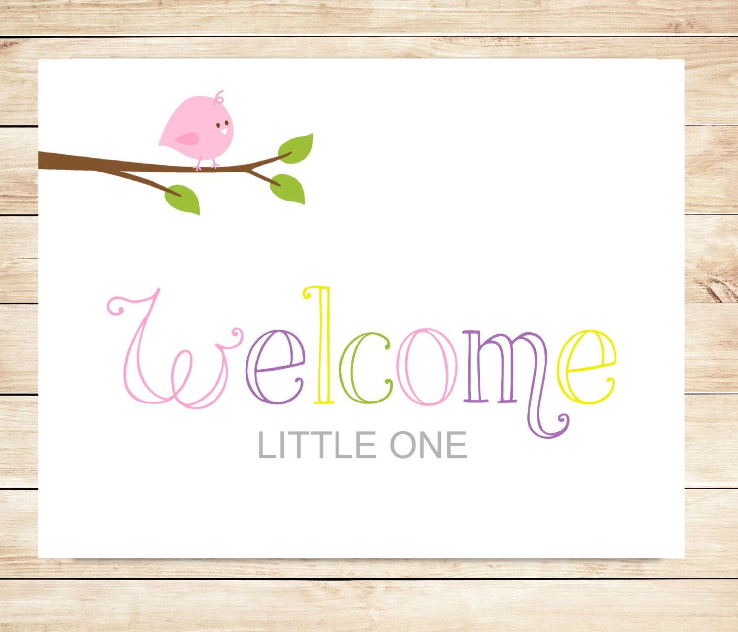 welcoming baby card - Pertamini.co