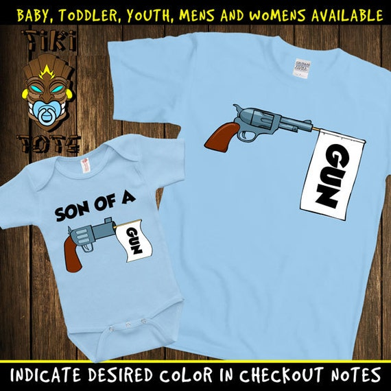 Funny Matching Son Of A Gun Set T-shirts Cute Family Gift For