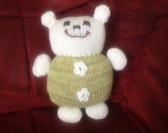 Knitted soft bear