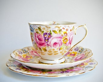 Royal Albert Serena Cup, Saucer, Plate Trio