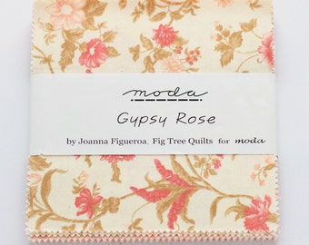 SALE Gypsy Rose by Fig Tree Quilts for Moda Charm Pack  OOP HTF