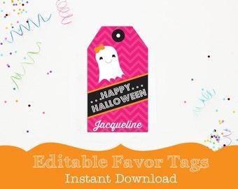 Halloween Tag - Printable Halloween Favor Tags - Halloween Treat Bag Tag by Printable Studio
