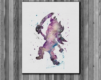 Jake Poster, Jake and the Never Land Pirates -  watercolor, Art Print, instant download,  Watercolor Print, poster