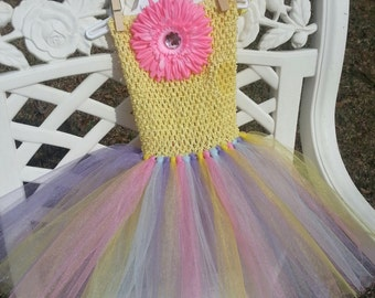 Easter tutu dress with hair bow