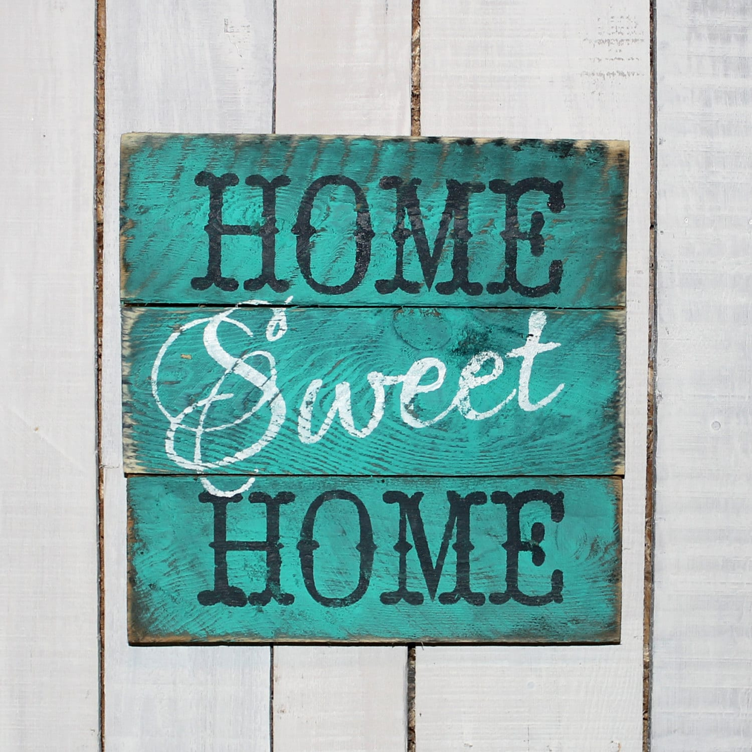 country pallet sign home sweet home hand painted reclaimed. Black Bedroom Furniture Sets. Home Design Ideas