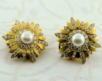Gold and Pearl Vintage Earrings