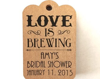 Custom printed Gift tag wedding tag bridal shower tag baby shower baby announcement gift Set of 25
