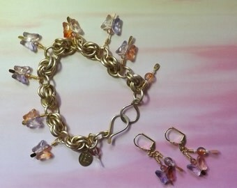 Chainmaille Bracelet & Earring Set