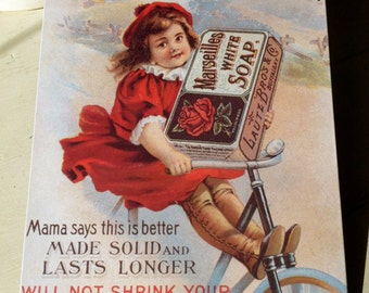 Advertising Tin - Vintage Style Reproduction Marseilles White Soap