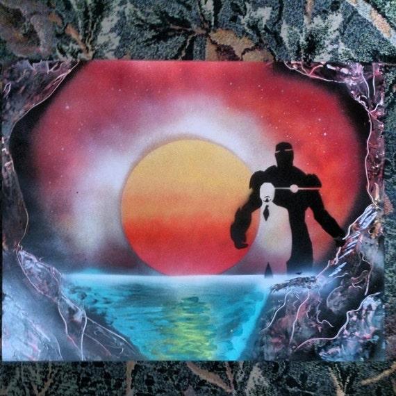 iron man tony stark spray paint art spraypaint art spray art. Black Bedroom Furniture Sets. Home Design Ideas