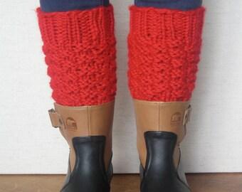 PATTERN - Moss Stitch Leg Warmers