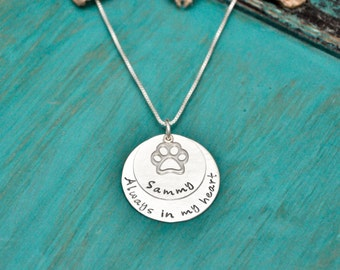 Sterling Silver Dog memorial, In memory of necklace, remembrance necklace, memorial necklace, pet loss, pet memorial