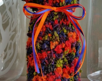 Festive Wine Bottle Cozy/Gift Bag
