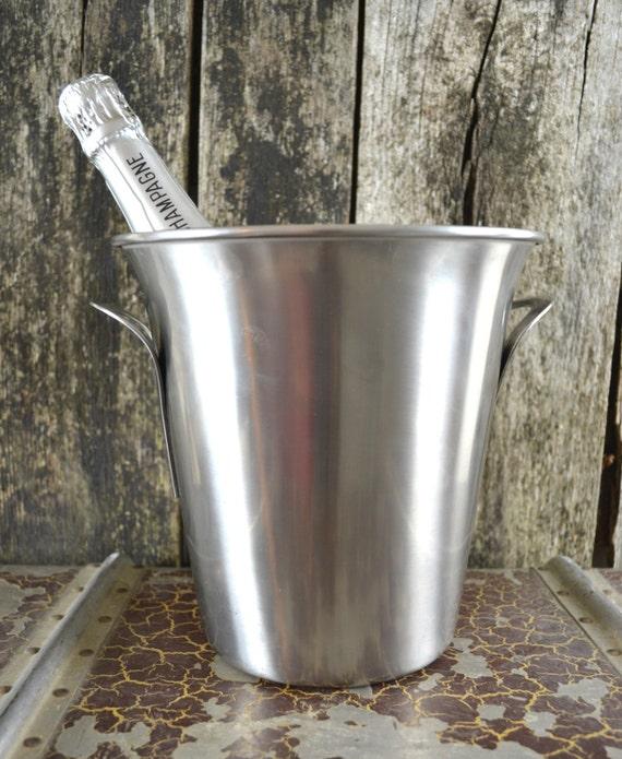 Vintage french metal guy degrenne champagne by shabbyfrenchvintage - Guy degrenne inox france ...