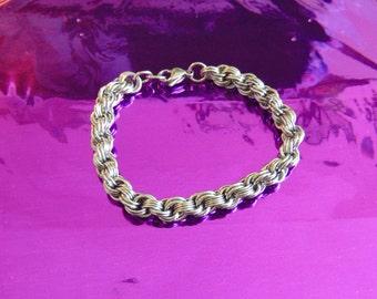 Stainless Steel Double Spiral Weave Bracelet
