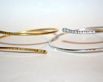 Upper Arm Band Gold - Silver 925 Arm Cuff Minimalist