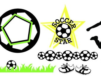 Soccer Vector Art SVG Files